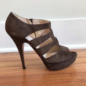 Prada Brown Suede Heels, 36 1/2
